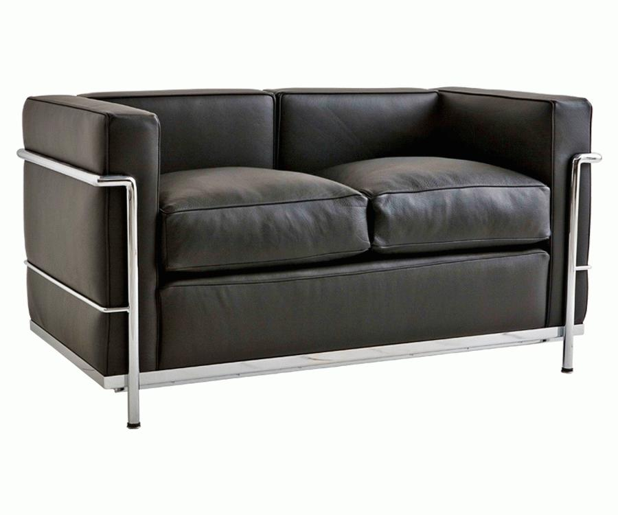 online shop sofas le corbusier zweisitzsofa lc2 m belklassiker direkt ab werk italien. Black Bedroom Furniture Sets. Home Design Ideas